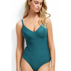 NEW Seafolly One Piece Maillot Teal Swimsuit